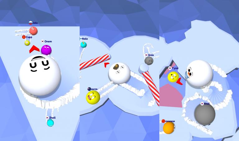 『Snow Roll.io』建築とパズルがこのアプリ1つで楽しめちゃう新感覚のストラテ..