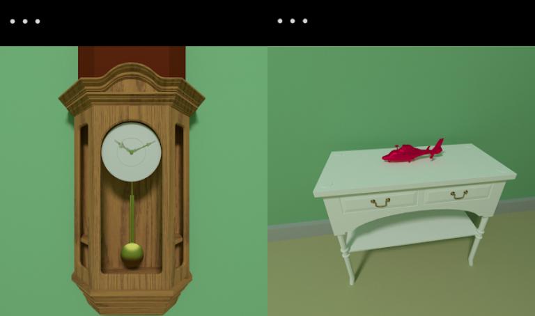 脱出ゲーム Leap、色の付いた水を入れ替えていき同じ色に統一するシンプルパズル..