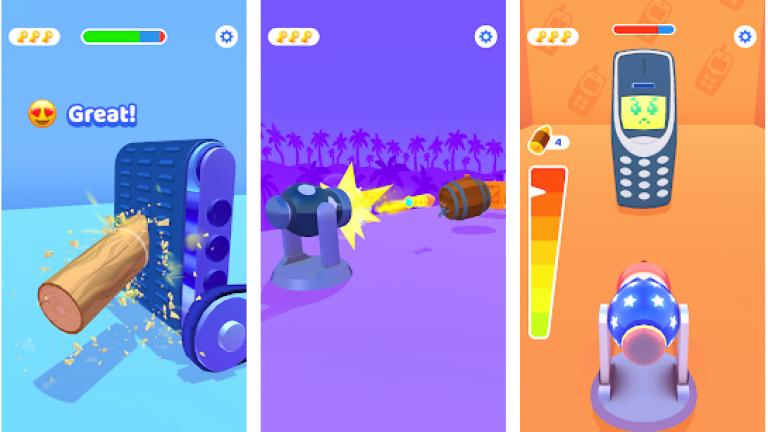 丸太投げゲーム、2種類の生物を融合させて、新しい生物を生み出そう!