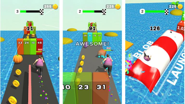 『Fat Pusher』色の付いた水を入れ替えていき同じ色に統一するシンプルパズル..