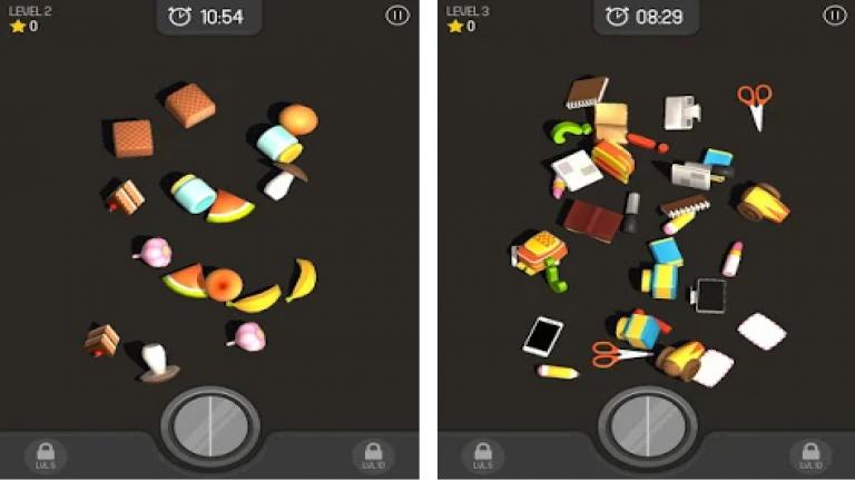 合わせる3D(Match 3D)、色の付いた水を入れ替えていき同じ色に統一するシンプルパズル..