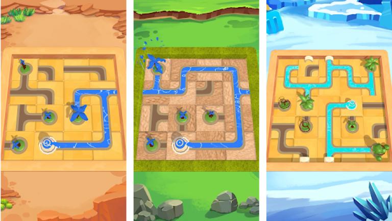 『Water Connect Puzzle』ギア付きのラジコンカーを操作して一位を目指そう!
