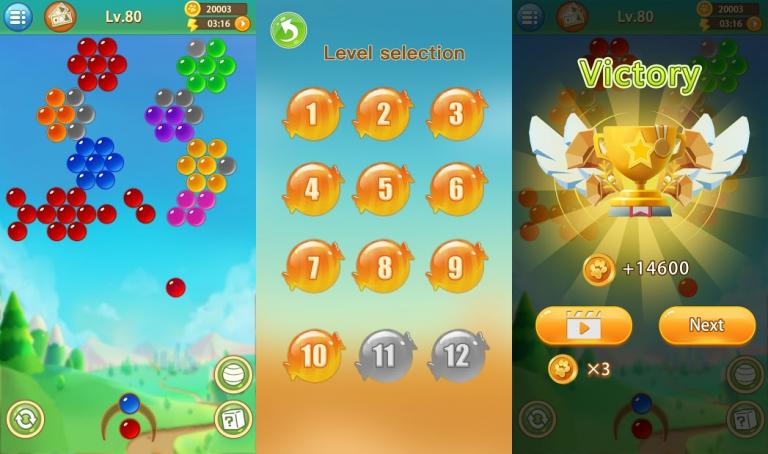 『Bubble Pop 2021』地味な女の子を綺麗に大変身させてあげるパズルゲーム!