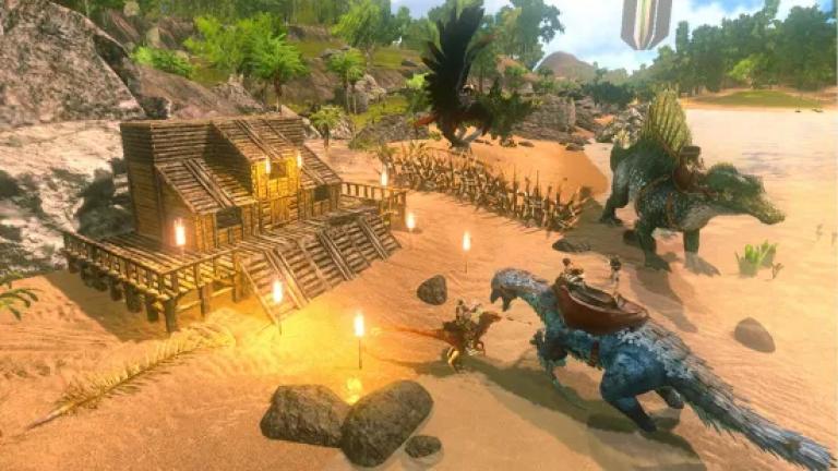 『ARK: Survival Evolved』色の付いた水を入れ替えていき同じ色に統一するシンプルパズル..