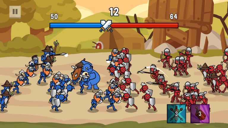 Stick Wars 2: Battle of Legions、激萌え必至!!放置でにゃんこ達のリゾートをケン..