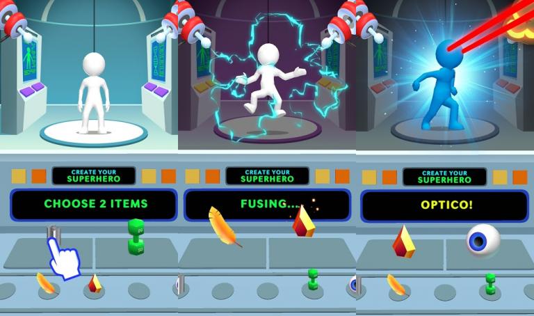 Heroes Inc!、2種類の生物を融合させて、新しい生物を生み出そう!