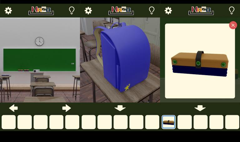 『ミニ脱出ゲーム 思い出の教室』地味な女の子を綺麗に大変身させてあげるパズルゲーム!